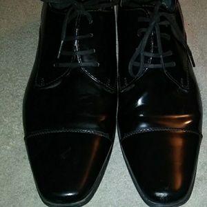 Calvin Klein patent leather oxford sz 13